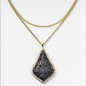 Kendra Scott Aiden Gold&Gunmetal Pendant Necklace